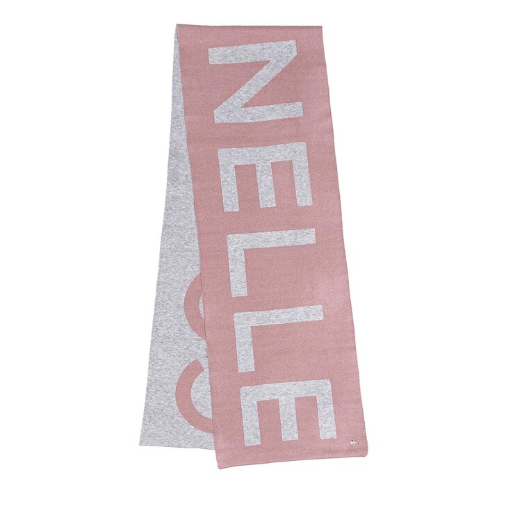 scarves, Coccinelle, Scarf 34 X 200  Grey/Powder Pink