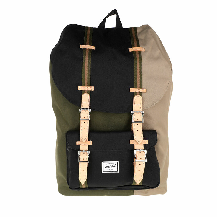Reisetasche, Herschel, Little America Backpacks Ivy Green Black