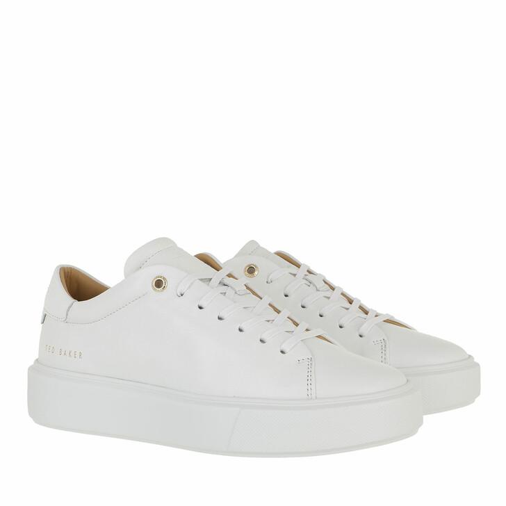 Schuh, Ted Baker, Yinka Leather Platform Trainer White