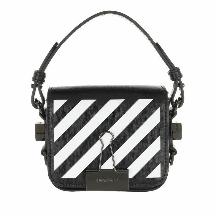 bags, Off-White, Diag Baby Flap Crossbody Bag Black White