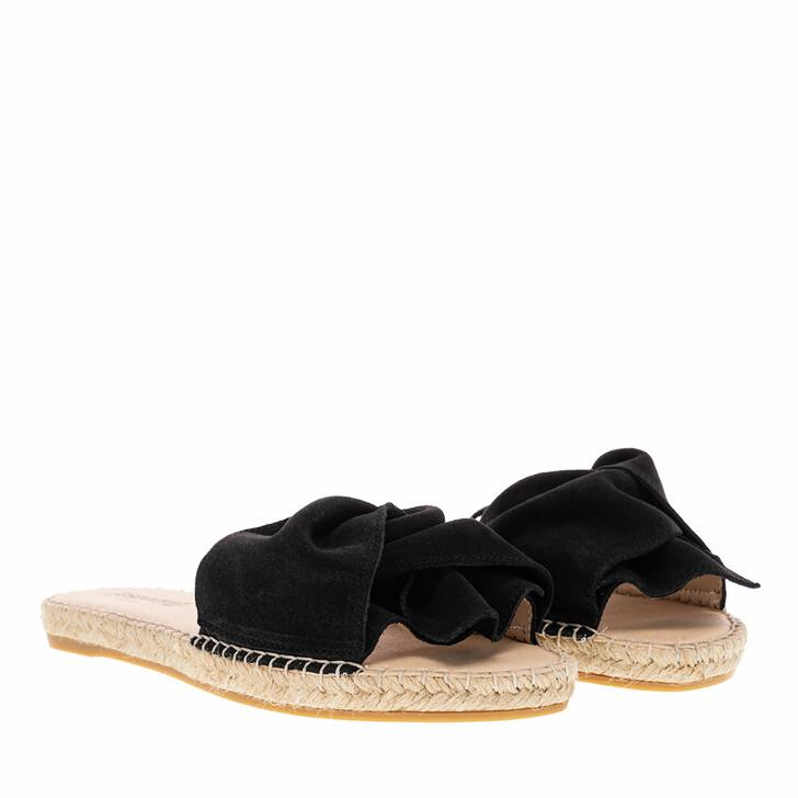 shoes, Espadrij l'originale, PLAGE BOUCLE VELOUR noir