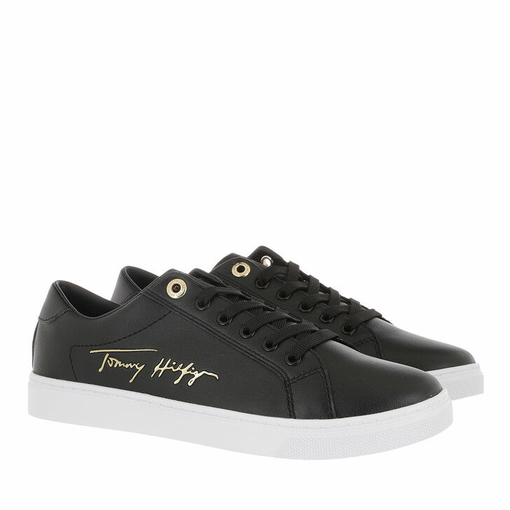 Schuh, Tommy Hilfiger, TH Signature Cupsole Sneakers Black