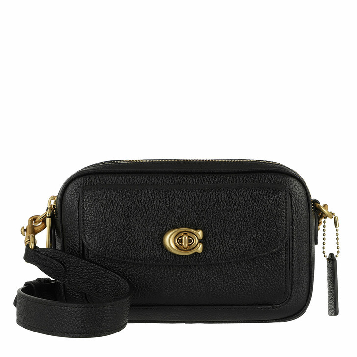 Handtasche, Coach, Polished Pebble Leather Willow Camera Bag B4/Black