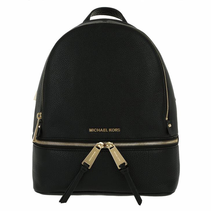 Reisetasche, MICHAEL Michael Kors, Rhea Zip SM Back Pack Black