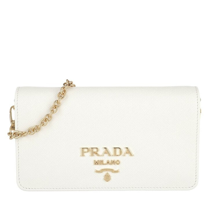 Handtasche, Prada, Tote Bag Leather White