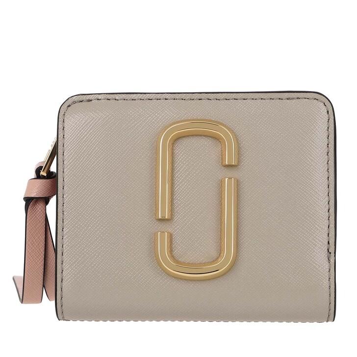 Geldbörse, Marc Jacobs, The Snapshot Mini Compact Leather Wallet Dust Multi