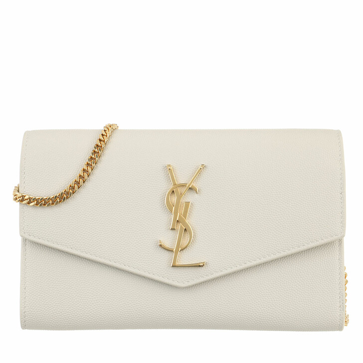Handtasche, Saint Laurent, Uptown Chain Wallet Crema Soft