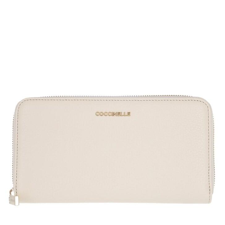 wallets, Coccinelle, Metallic Soft Wallet Lambskin White
