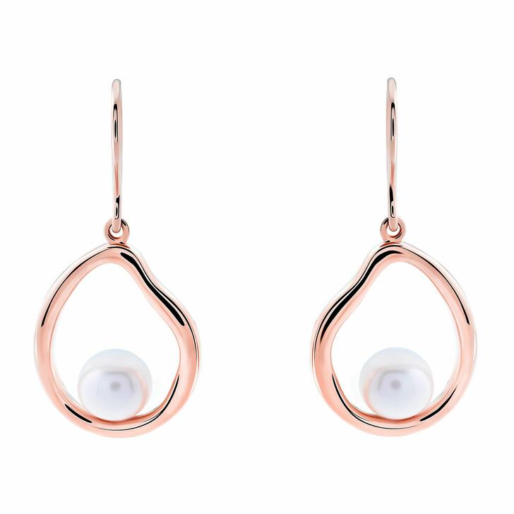 Ohrring, Orphelia, Sterling Silver Earrings Fresh Water Pearl Rose Gold