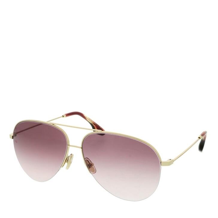 Sonnenbrille, Victoria Beckham, VB90S Gold/Burgundy
