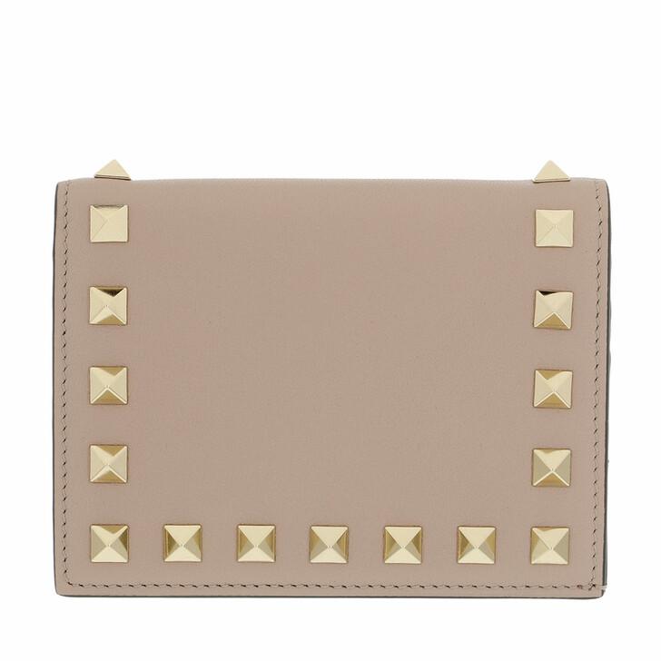 wallets, Valentino Garavani, Rockstud Small Wallet Poudre