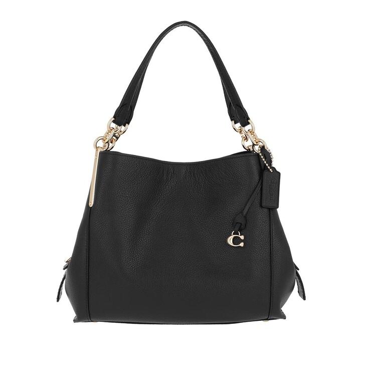 Handtasche, Coach, Pebble Dalton Satchel Bag Black
