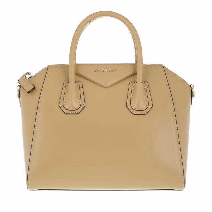 bags, Givenchy, Small Antigona Handle Bag Leather Cappuciono Beige
