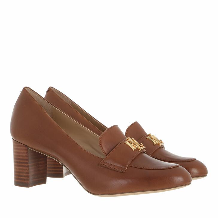 shoes, Lauren Ralph Lauren, Brendi Pumps Dress Deep Saddle Tan/ Dark Natural
