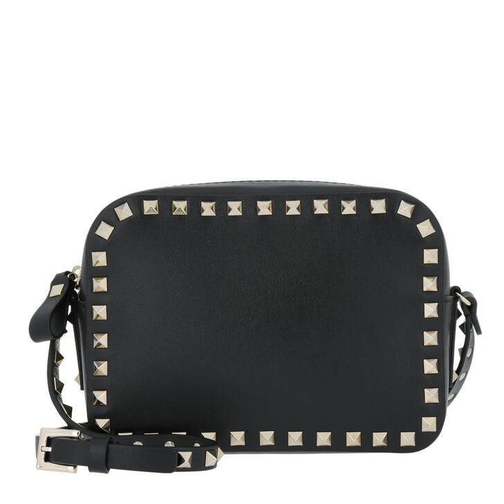 Handtasche, Valentino, Rockstud Camera Crossbody Bag Black