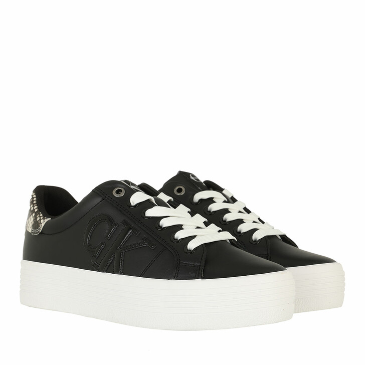 shoes, Calvin Klein, Vulcanized Flatform Sneaker P Black