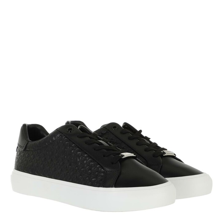 shoes, Calvin Klein, Vulc Lace Up Emboss Mono CK Black