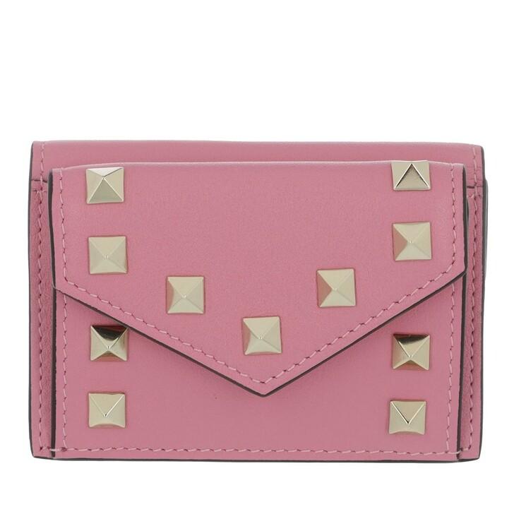 wallets, Valentino Garavani, Rockstud Wallet Leather Dawn Pink