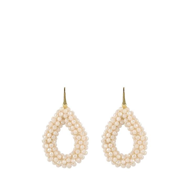 Ohrring, LOTT.gioielli, CE Glassberry Drop Earring L Gold