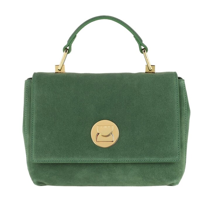 Handtasche, Coccinelle, Liya Suede Handle Bag Leaf