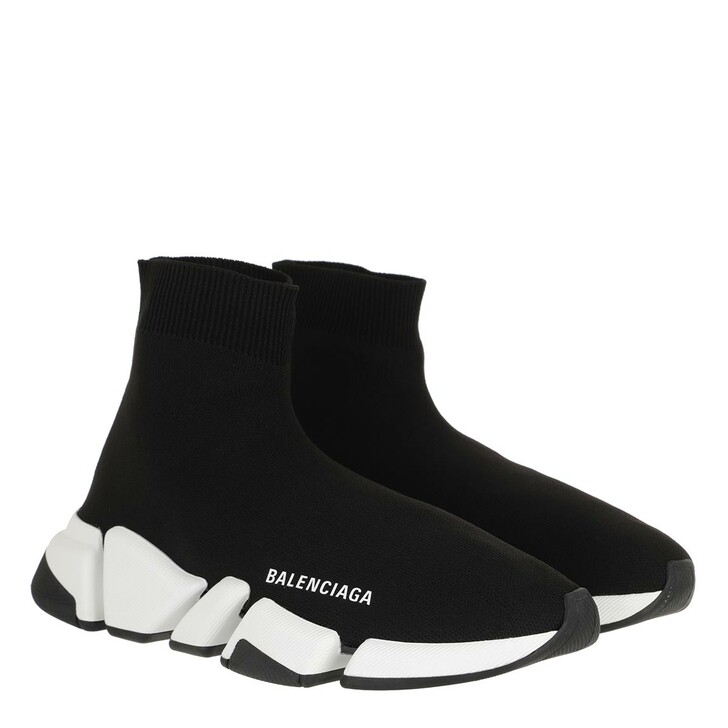 Schuh, Balenciaga, Speed 2 Trainer Knit Sneakers Black/White/Black