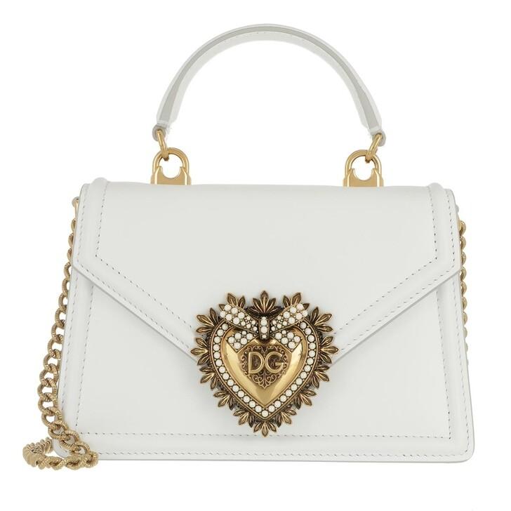 Handtasche, Dolce&Gabbana, DG Amore Saddle Bag White