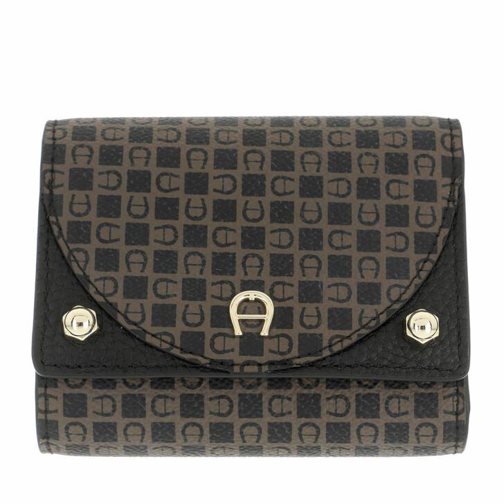 wallets, AIGNER, Diadora Wallet Dadino Brown
