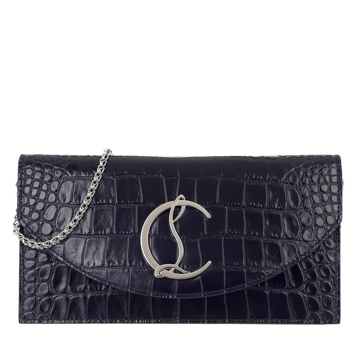 bags, Christian Louboutin, Loubi54 Crossbody Bag Leather Obscur/Silver