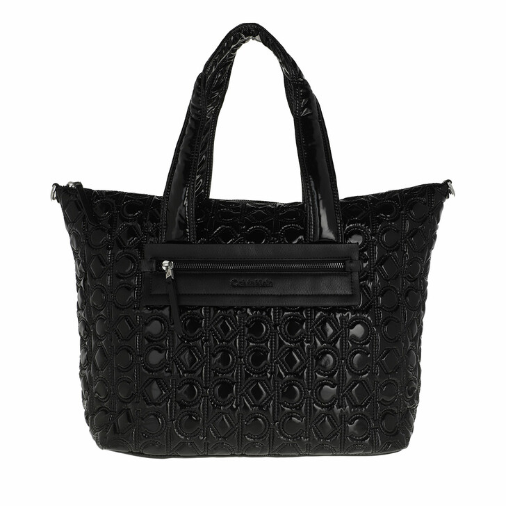 bags, Calvin Klein, CK Essential Shopper Quilt Mono CK Black