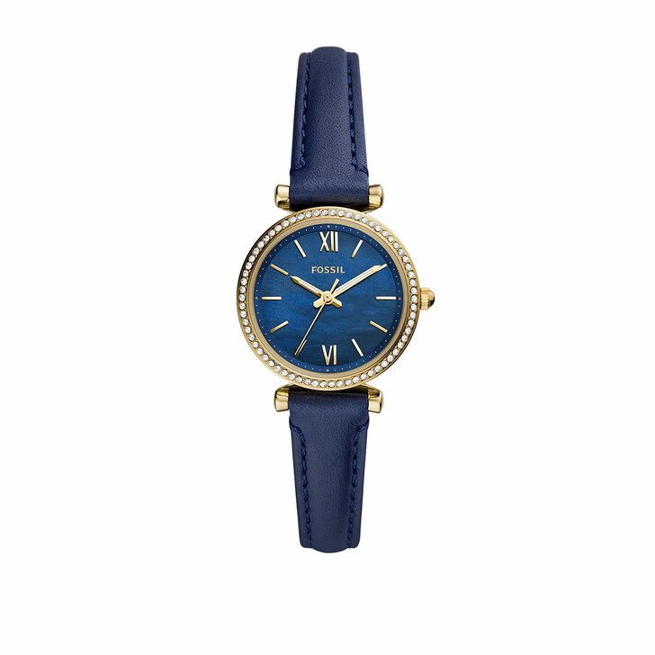 Uhr, Fossil, Carlie Mini Three-Hand Leather Watch Blue