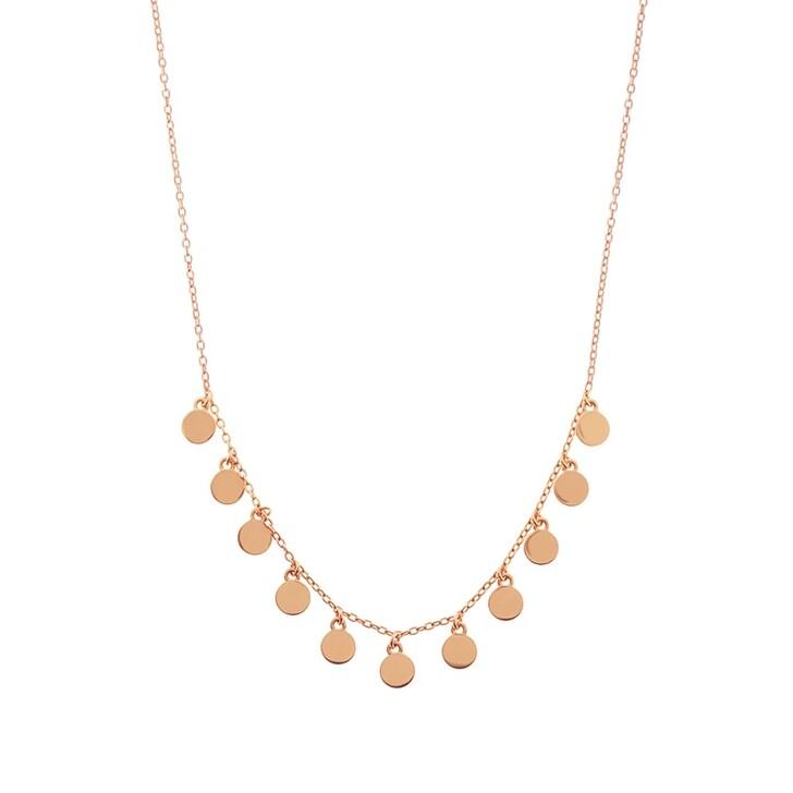 Kette, Leaf, Necklace Platelet 4 Silver Rose Gold-Plated