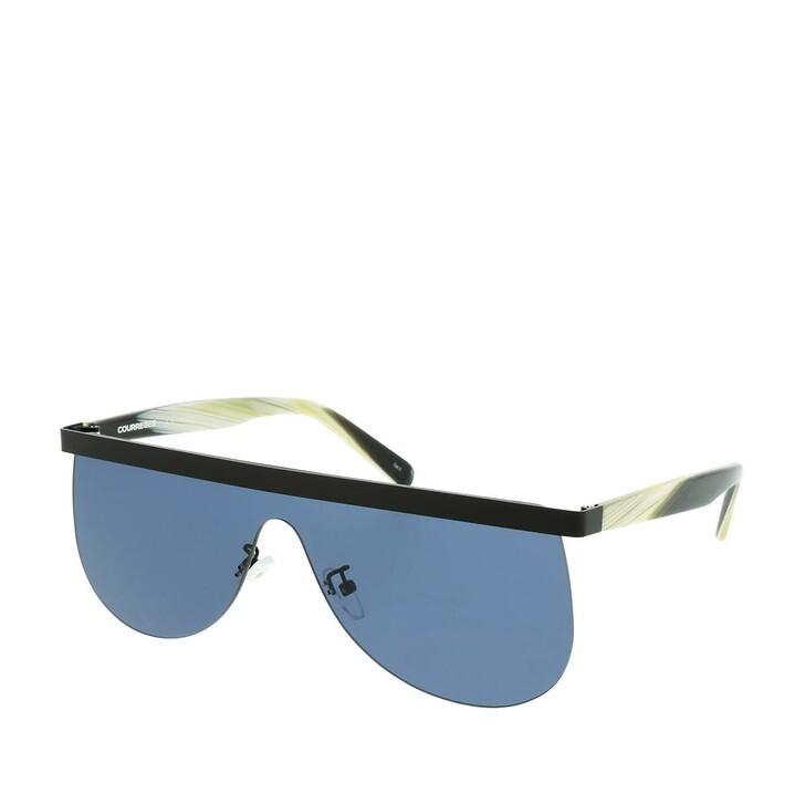 Sonnenbrille, Courrèges, CL2004-001 99 Sunglasses Black-Green-Blue