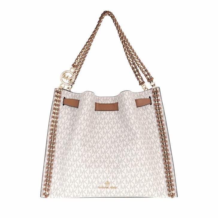 Handtasche, MICHAEL Michael Kors, Large Chain Shoulder  Vanilla/Acorn