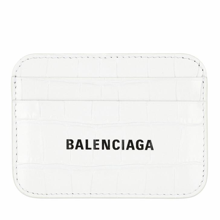wallets, Balenciaga, Logo Card Holder White Black
