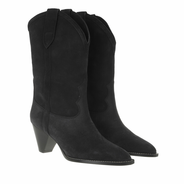 shoes, Isabel Marant, Luliette Boots Suede Leather Faded Black