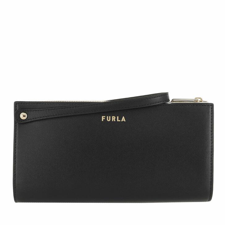 bags, Furla, Furla Musa M Pouch W/Mirror Nero+Talco H
