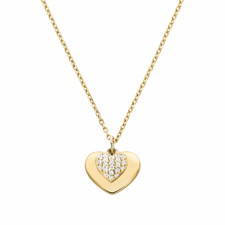 Kette, Michael Kors, MKC1120AN710 Love Heart Duo Pendant Gold
