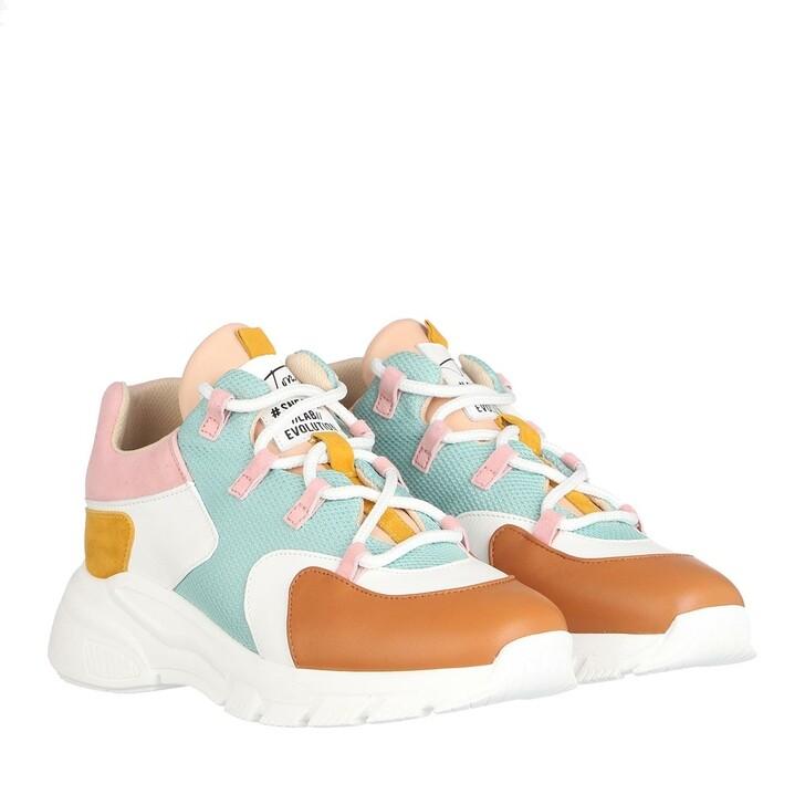 Schuh, Toral, Low Sneakers Cognac/Bco/Turq