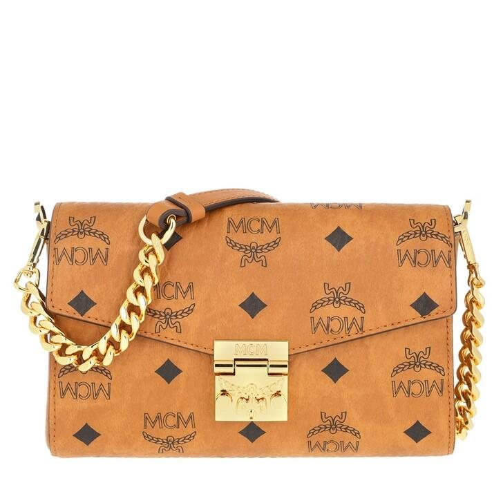 Handtasche, MCM, Small Millie Visetos Crossbody Bag Cognac