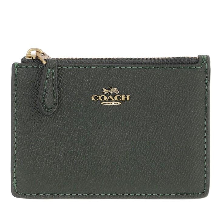 wallets, Coach, Crossgrain Mini Id Skinny Amazon Green