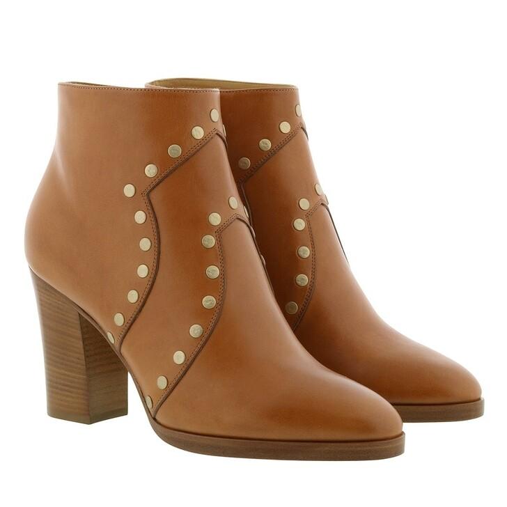Schuh, Celine, Ankle Boots Vegetal Calfskin Tan