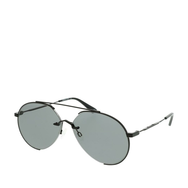 Sonnenbrille, McQ, MQ0263S-001 60 Sunglasses Black-Black-Smoke