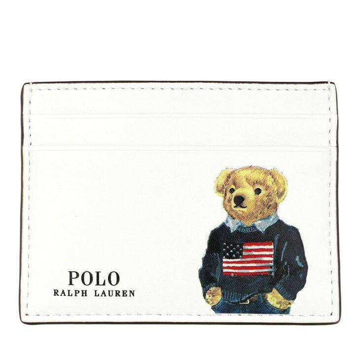 Geldbörse, Polo Ralph Lauren, Card Case Small White Multi