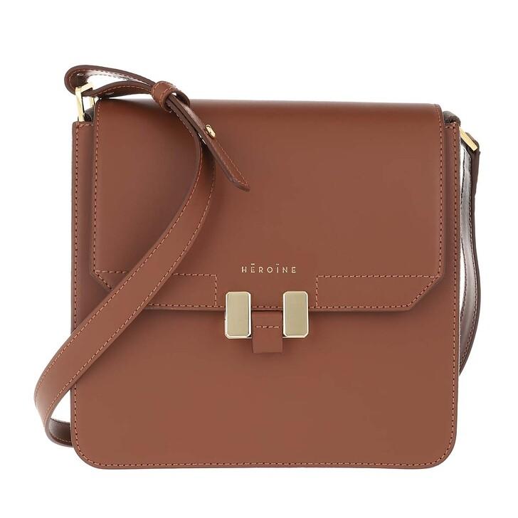 Smartphone/Tablet case (Case), Maison Hēroïne, Tilda Tablet Mini Bag Cognac/Plumbeo Grey/Gold