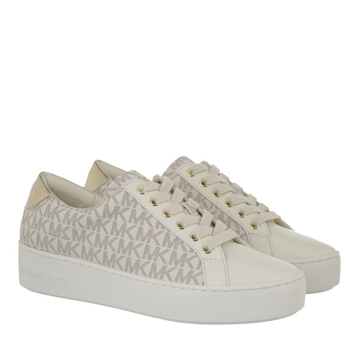 shoes, MICHAEL Michael Kors, Poppy Lace Up Van/Cream