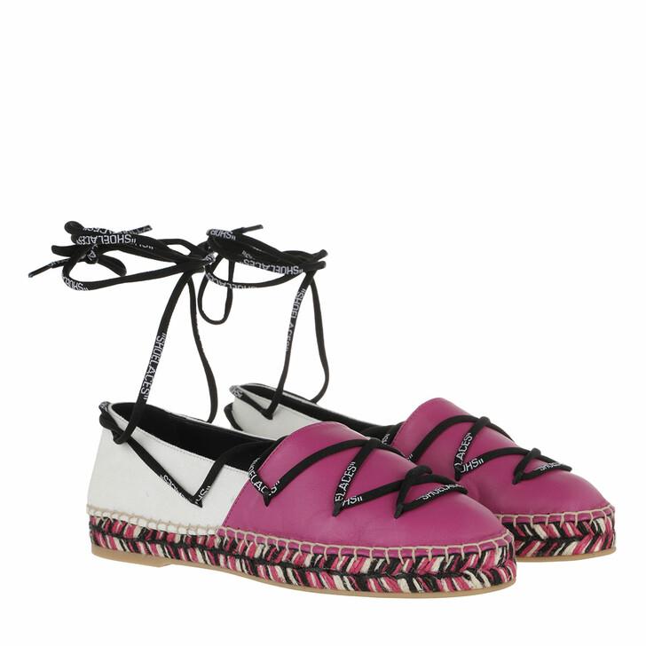 shoes, Off-White, Laces Flat Espadrillas Beige Fuchsia