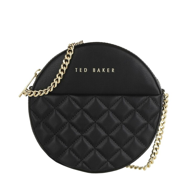 Handtasche, Ted Baker, Cirrcus Quilted Circle Mini Crossbody Black