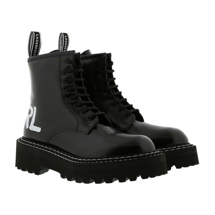 shoes, Karl Lagerfeld, Patrol II Brush Logo Hi Lace Black