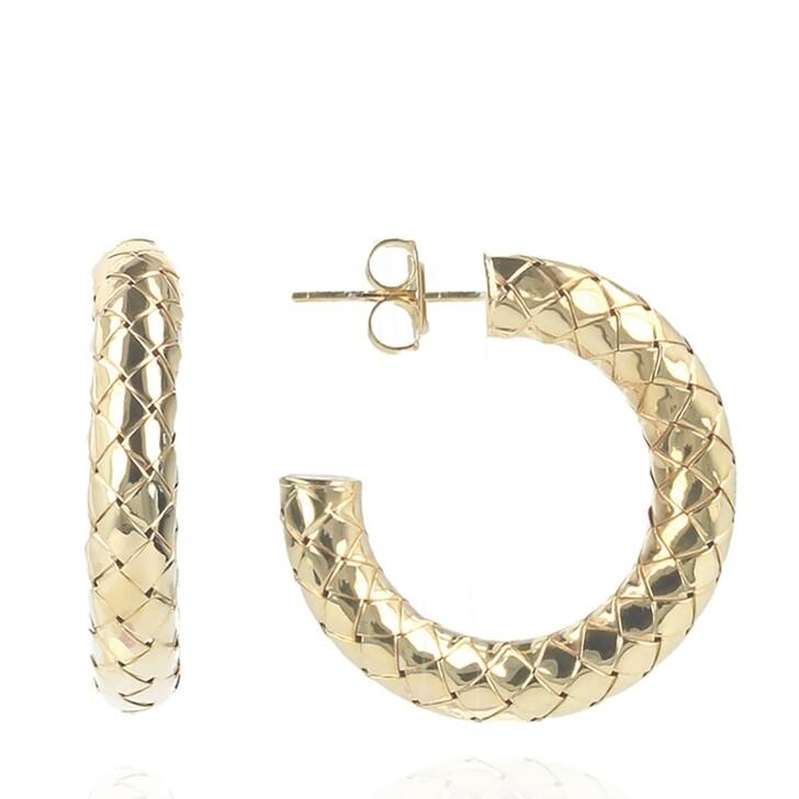 Ohrring, LOTT.gioielli, Earring Cobra creole round M Gold