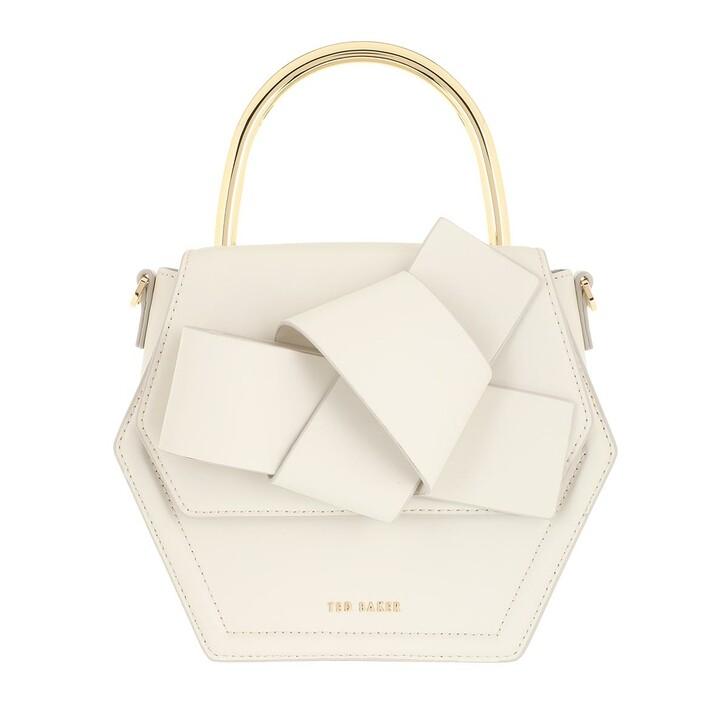 Handtasche, Ted Baker, Hexana Mini Hexagon Metal Top Handle Crossbody Bag Ivory